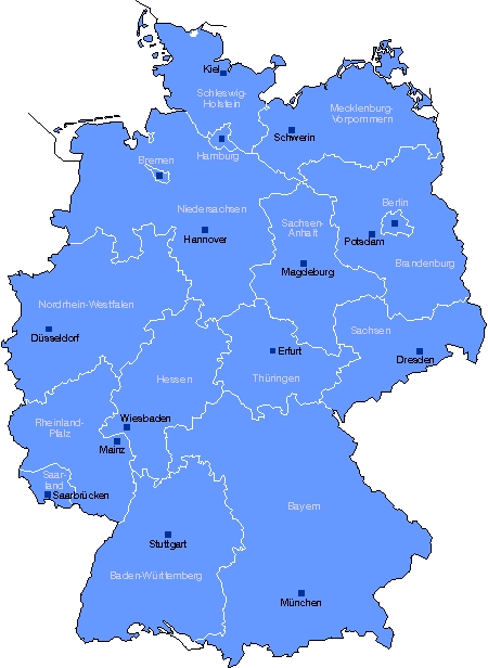 Federal states in Germany